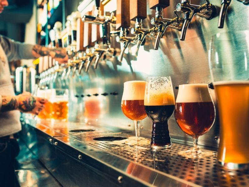 different beer brews